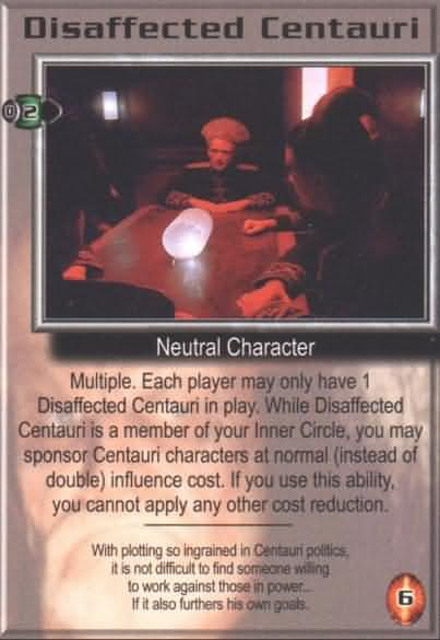 Babylon 5 CCG Great War Promo Card Disarray Used Played